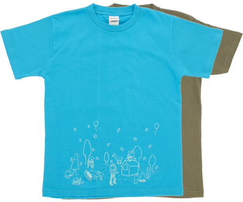 Wet Side : Night glow forest T-shirt, summer Limited edition
