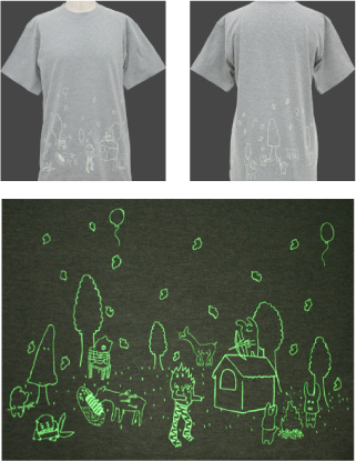Night glow forest T-shirt